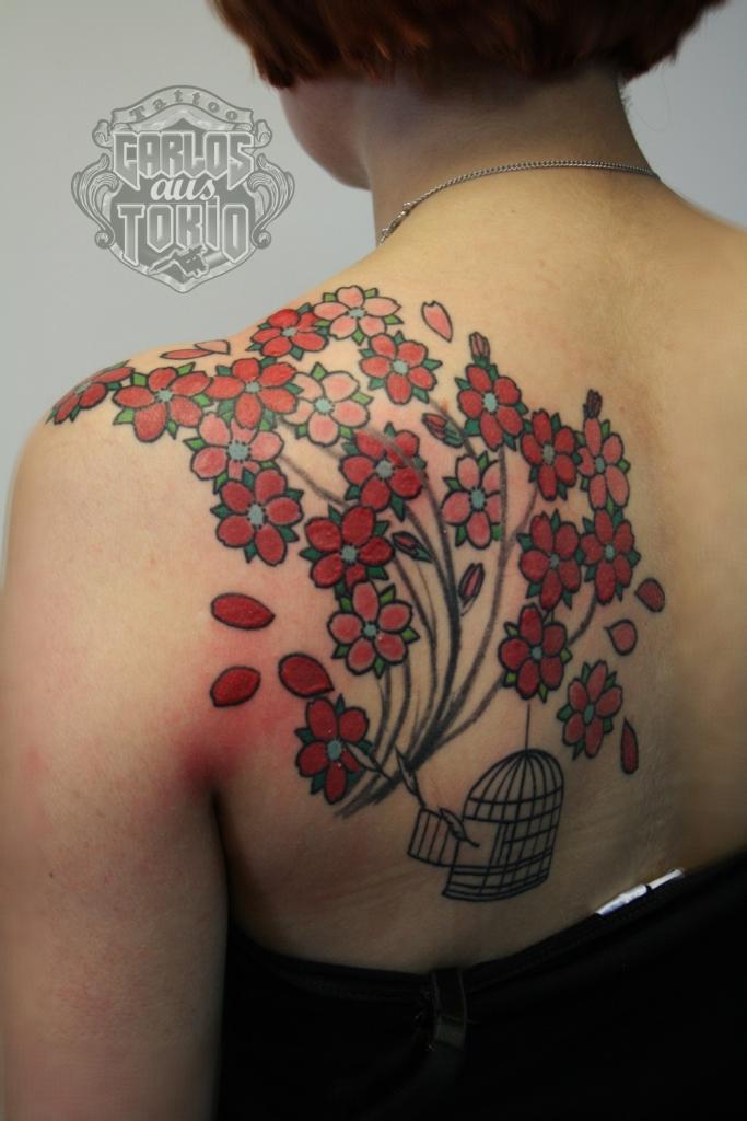 cherryblossom tattoo
