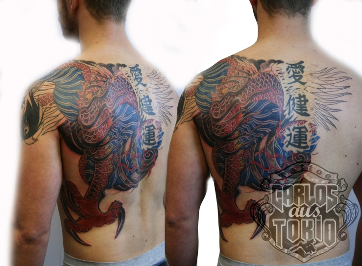 hiryuu japanische mytologie drachen tattoo
