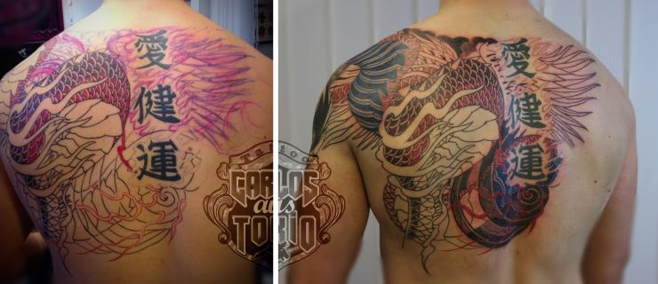 japanische hiryuu drache tattoo