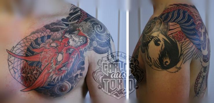 japanische hiryuu drache tattoo1