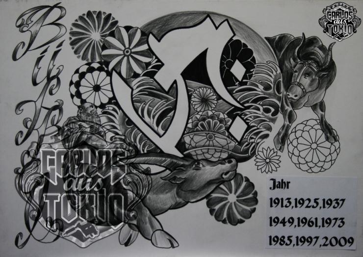 bonji tattoo design4