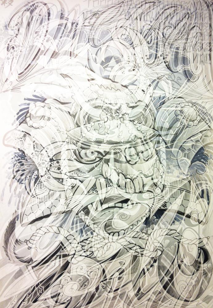 carlos aus tokio tattoo Zeichnung