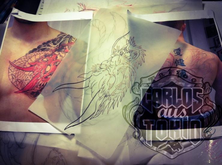 Hiryu Japanische drache tattoo6