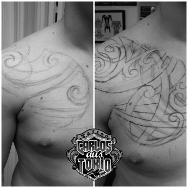 hybrid japanisch tribal tattoo1