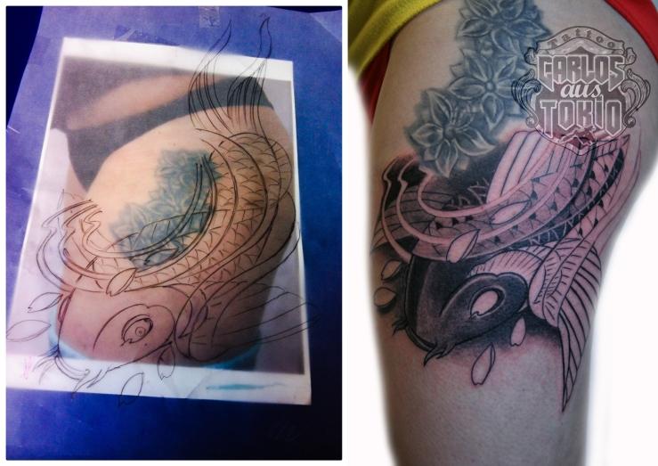 japanische koi tattoo 1