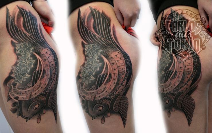 japanische koi tattoo