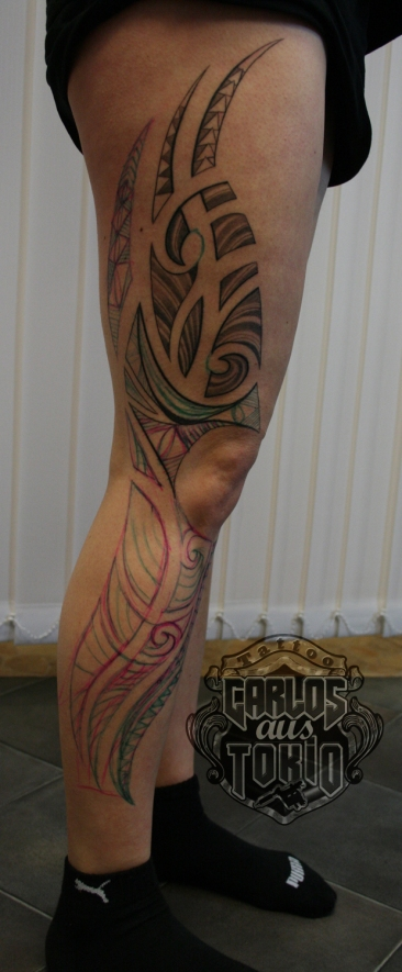 lady's maori tribal tattoo1