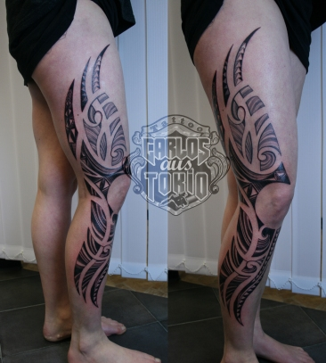 lady's maori tribal tattoo2