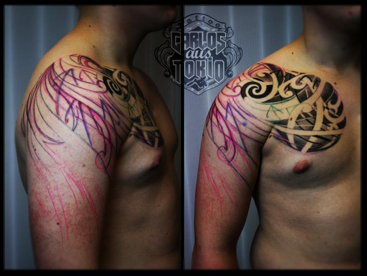 hybrid maori tattoo