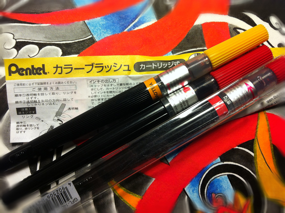pentel brush pens
