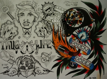 bloodwork tattoo flash2