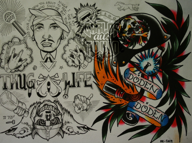 bloodwork tattoo flash2
