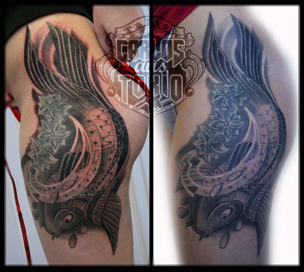 japanese koi tattoo 3