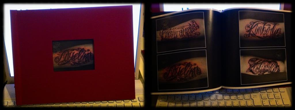 tattoo schrift book