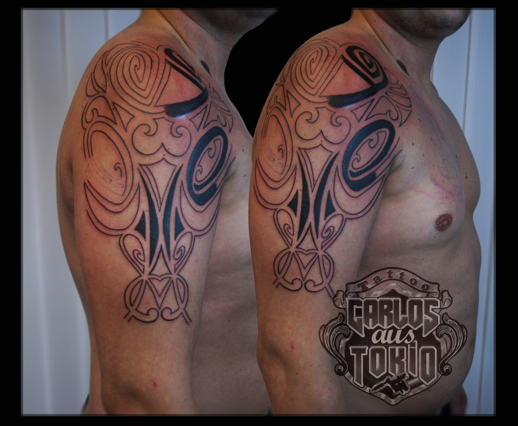 tribal stier tattoo