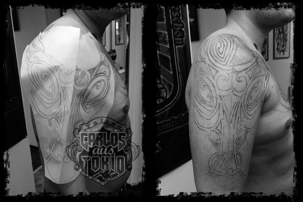 tribal stier tattoo1