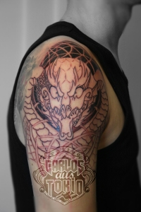 drache deutschland tattoo