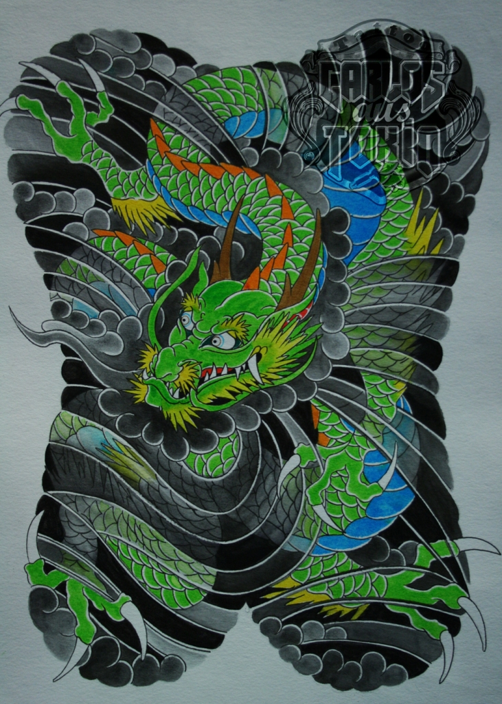 japanese dragon tattoo 1