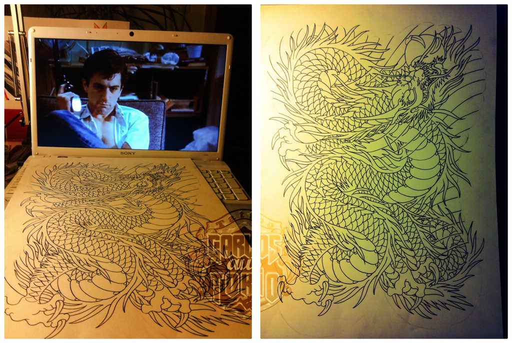 japanese dragon tattoo drawing1