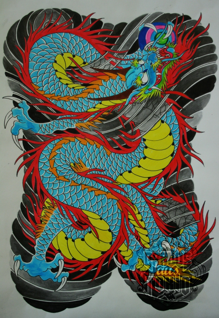 japanese dragon tattoo drawing4