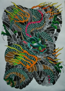 japanese dragon tattoo2