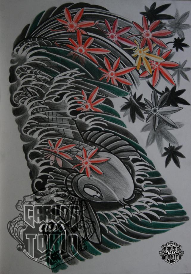 japanische koi tattoo14