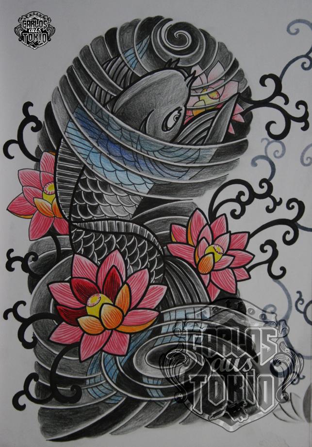 japanische koi tattoo18