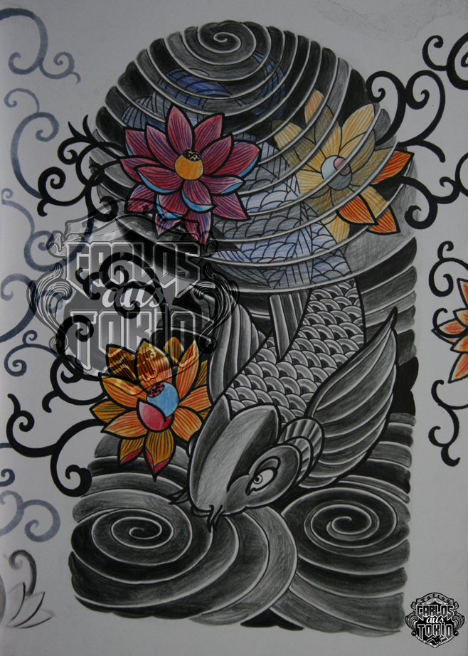 japanische koi tattoo19