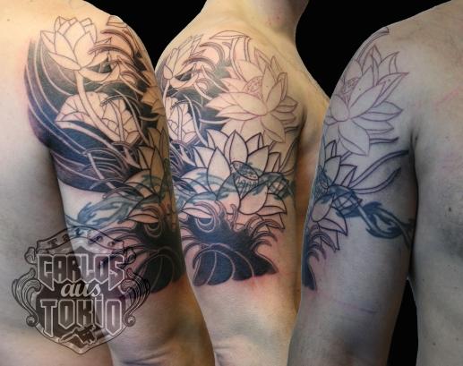 Japanische lotus tattoo3