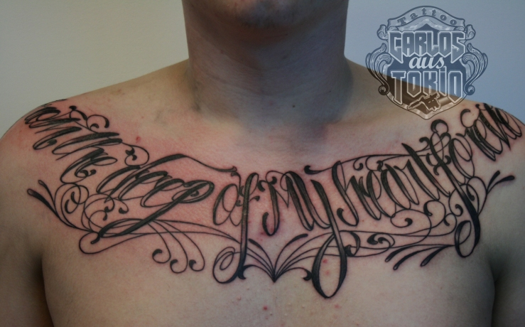 lettering chest tattoo1
