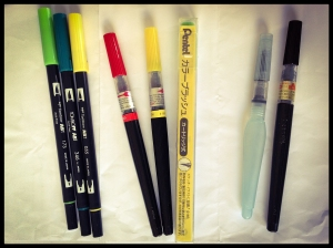 pentel brush pencils