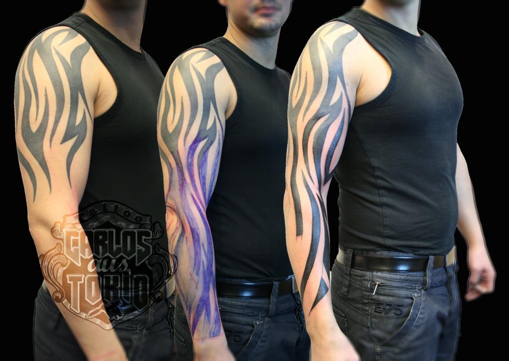 tribal arm tattoo