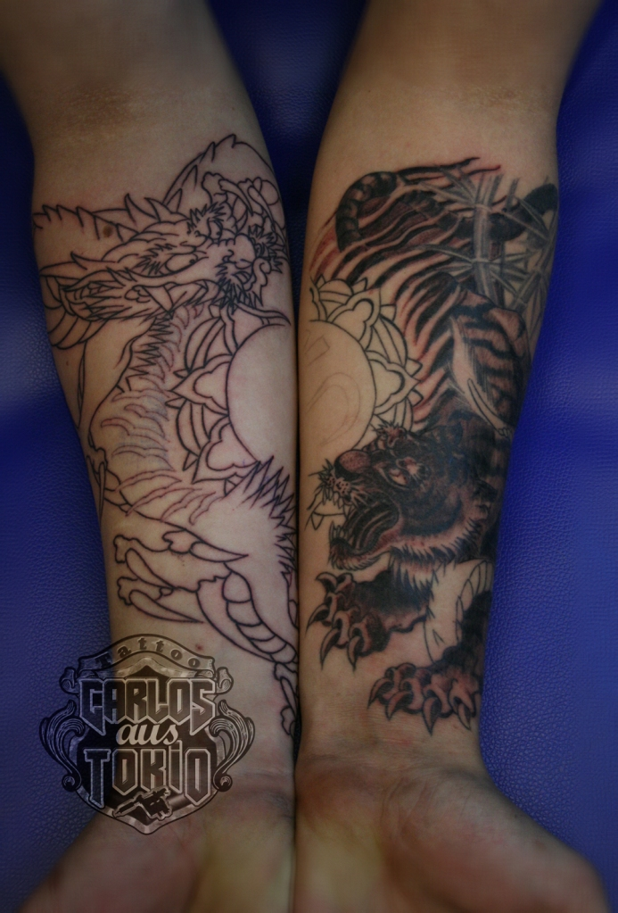 dragon tiger japanese tattoo