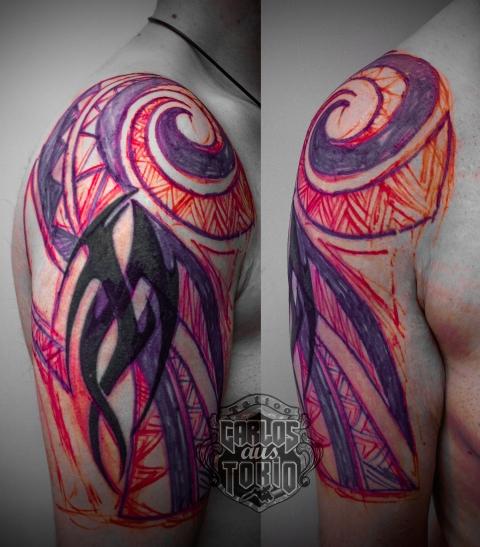 fixing old tribal tattoo1
