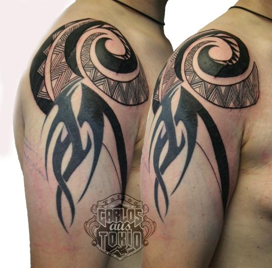 fixing old tribal tattoo2