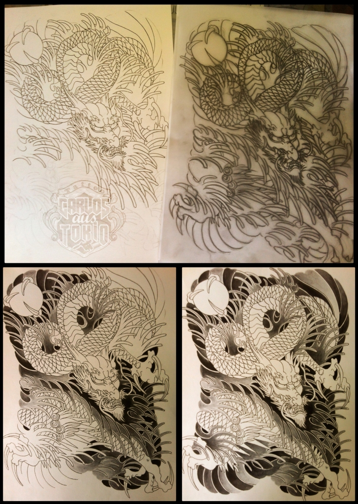 japanese dragon tattoo sketches