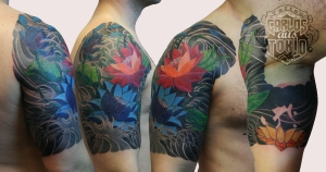 japanese lotus blumen tattoo