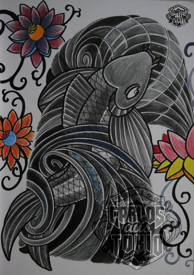 japanische koi tattoo20