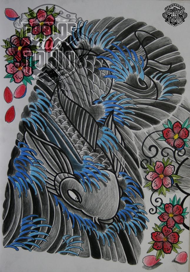 japanische koi tattoo24