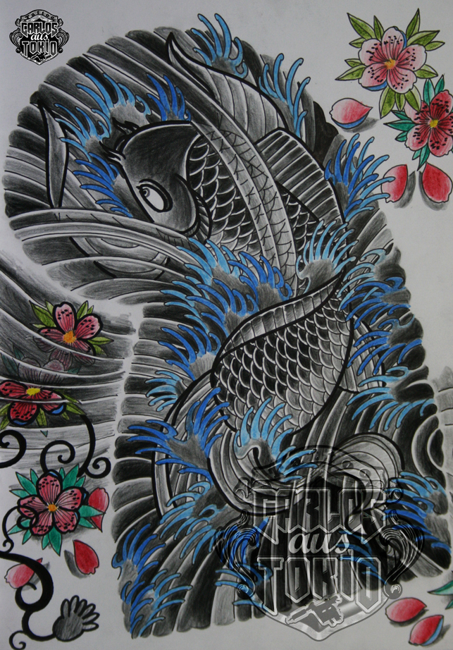 japanische koi tattoo25