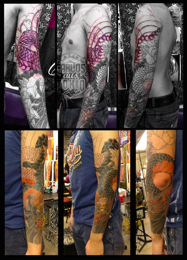 drache sleeve tattoo deutschland