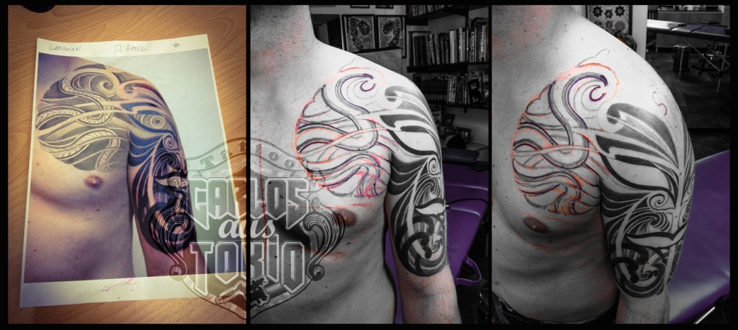 hybrid black work tattoo deutschland1