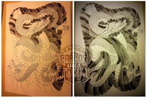 Japanische Drache tattoo deutschland