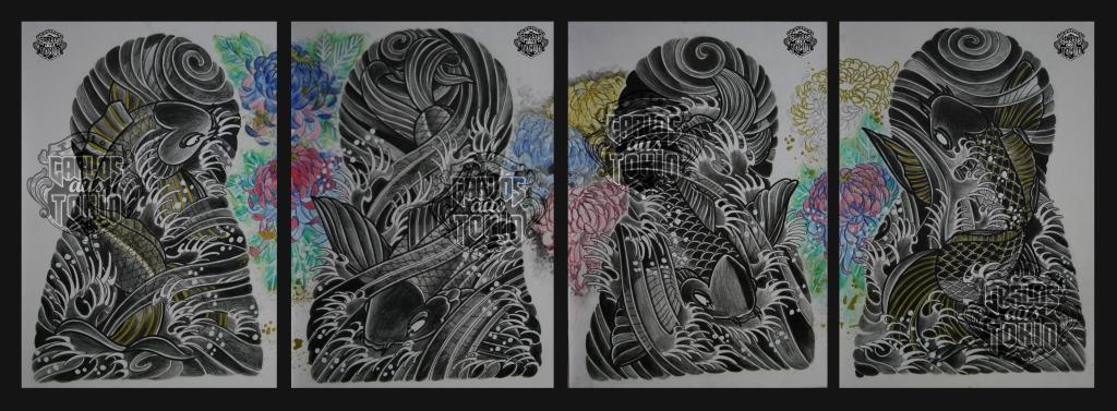 japanische koi tattoo 34