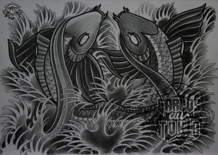 japanische koi tattoo13