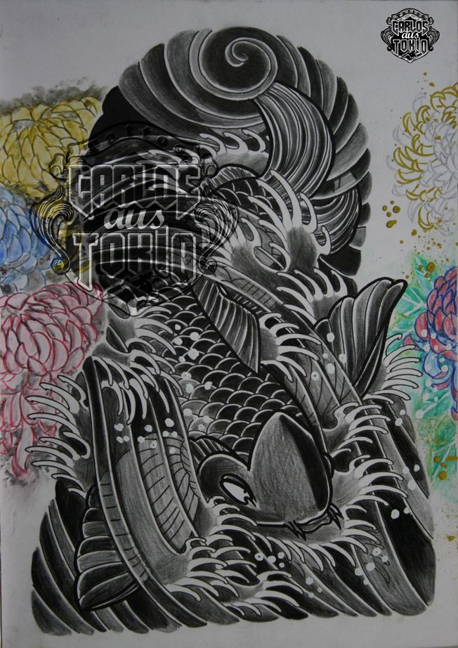 japanische koi tattoo28
