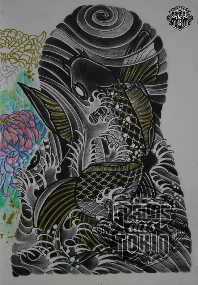 japanische koi tattoo29