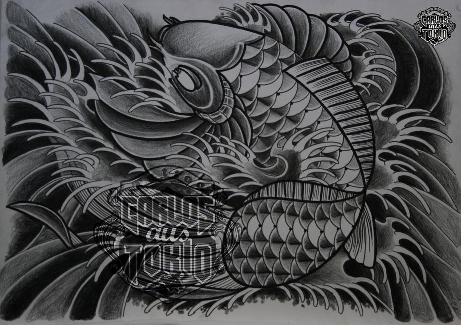 japanische koi tattoo3