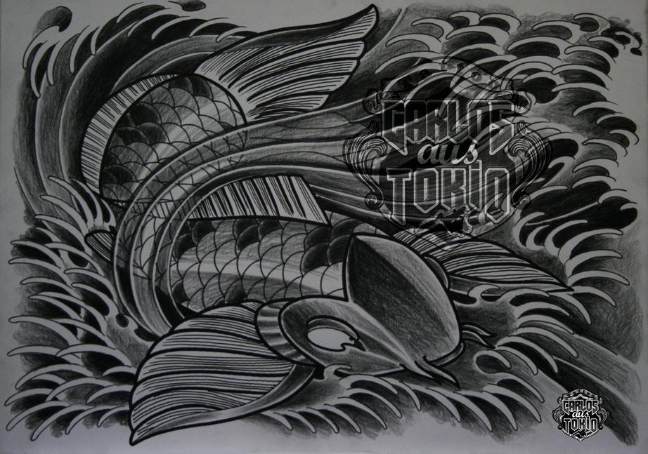 japanische koi tattoo4