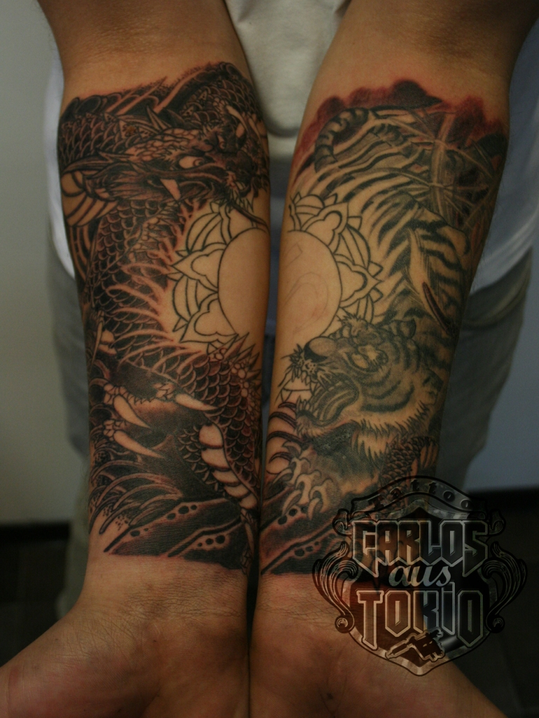 Tiger und Drache Japanische tattoo Deutschland1
